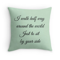 Dave Matthews Band Pillow Cover, Cushion Cover, Decorative Pillow, Steady As We Go Song Lyrics, 40cm Pillow