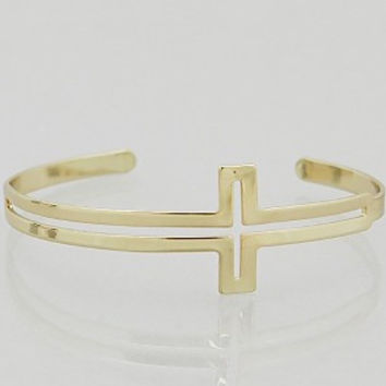 Cross Cuff Bracelets Gold / Silver