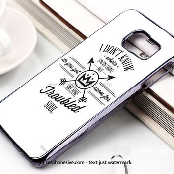 Fall Out Boy Lyric Samsung Galaxy S6 and S6 Edge Rubber Case