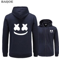 BAIJOE 2017 New brand marshmello face Hoodies men Casual Slim Fit Hoodies Sweatshirt Sportswear Male Fleece Hooded Jacket