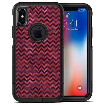 Wine Basic Watercolor Chevron Pattern - iPhone X OtterBox Case & Skin Kits