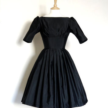 Black Grosgrain Audrey Prom Dress - Made to Measure