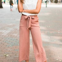 I'm A-frayed Not Tie Waist Culottes