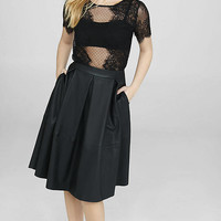 Scalloped Mesh And Lace Tee from EXPRESS