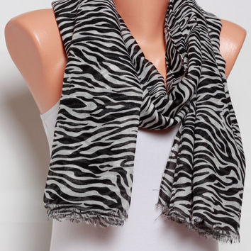Gift Ideas For her black scarf Leopard scarf Spring Scarf Summer Scarf Womens Scarves Womens Fashion scarves womens Accessories mothers day