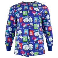 Dentist Super Teeth Adult Scrub Top