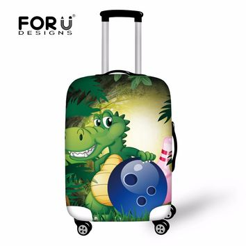 FORUDESIGNS Cartoon Luggage Case Cover Luggage Protective Covers Trolley Trunk Case Print Suitcase Covers New Travel Accessories