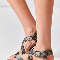 Maddie Faux Python Leather Sandal | Urban Outfitters