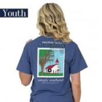 "Youth Simply Southern ""Preppy Grace"" Short Sleeve Tee"