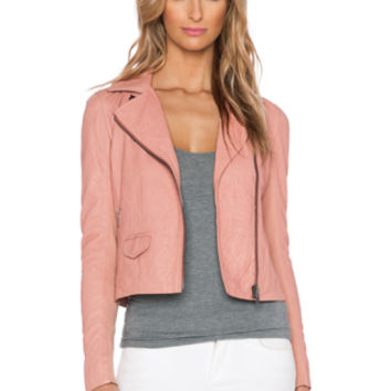 Gulrro Biker Jacket in Rose