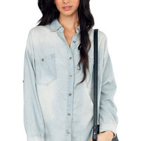 Perfect Denim Button Up Shirt $35