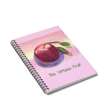 APPLE Notebook for Teacher: Watercolor art print by PonsArt $20.00
