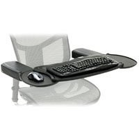 Mobo Chair Mount Ergo Keyboard and Mouse Tray System - 2.5-Inch x 12.5-Inch x 7.5-Inch - Black