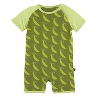 Kickee Pants Botany Collection Raglan Romper
