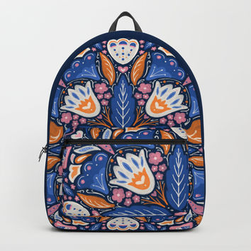 Bright Boho Style Backpack by noondaydesign