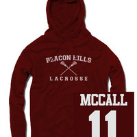 McCall Beacon Hills Lacrosse Hoodie - $24.99 | Poputees | Tees and hoodies with prints from popular TV shows and movies | poputees.com | Massachusetts