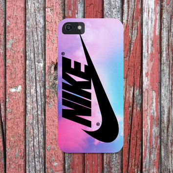 Nike Swoosh Logo Pink Pastel Turquoise for all phone device
