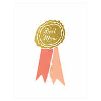 Best Mom Ribbon Mother's Day Card