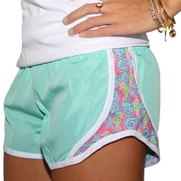 Monogrammed Simply Southern Mint Sea Shells Shorts
