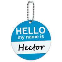 Hector Hello My Name Is Round ID Card Luggage Tag