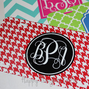 Monogrammed License Plate - Personalized License Plate - Car Tag - Chevron - Custom - Choose your design