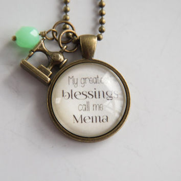 Mema Pride Necklace - Family Jewelry - Mothers Day Gift - Text Jewelry - Personalized - Custom Necklace - Blessings - Nana - Grandma Pride