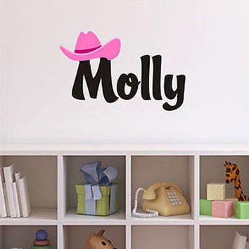Cowgirl Name Wall Decal