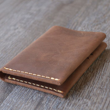 Personalized Bifold Leather Wallet, Men's Wallet, Minimalist Leather Wallet, Slim Leather Wallet, Distressed Leather Wallet, Groomsmen Gift