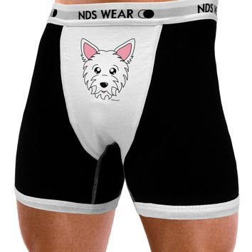 Cute West Highland White Terrier Westie Dog Mens NDS Wear Boxer Brief Underwear by TooLoud