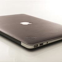 Stylish Synthetic Leather skin for MacBook: Black