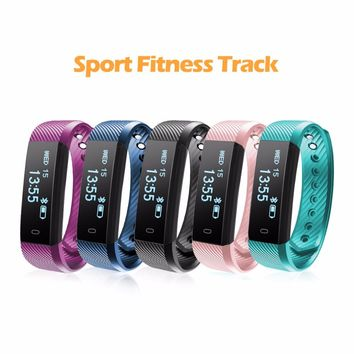 ID115 HR Diggro Smart Bracelet Heart Rate Monitor Activity Tracker Smart Band Waterproof Wristbands For IOS Android