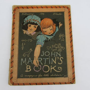 John Martin's Book February 1916 Antique Children's Magazine