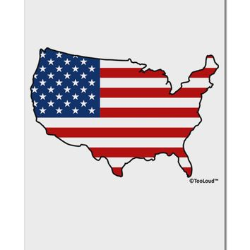 """United States Cutout - American Flag Design Aluminum 8 x 12"""" Sign by TooLoud"""
