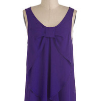 Hello, Bow! Top in Regency Purple