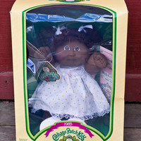 Coleco Cabbage Patch Kids Doll New, Original 1985 Penny Delila African American, Pig Tails