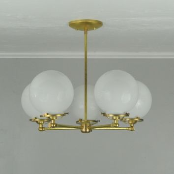Adjustable 5 Arm Globe Chandelier