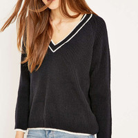 Urban Outfitters Contrast V-Neck Jumper - Urban Outfitters