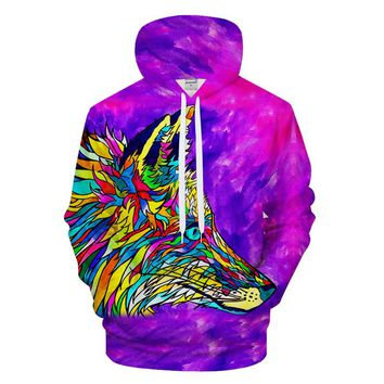 Fox Colorful Pullover Hoodie