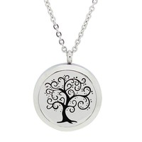 Tree of life Aromatherapy Pendant for Women Essential Oil Diffuser Necklace