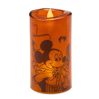 Disney Parks Mickey Mouse and Friends Light-Up Halloween Candle New