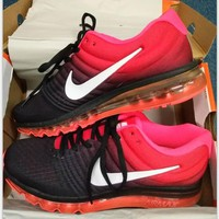 NIKE Trending Fashion Casual Sports Shoes AirMax section black red-1