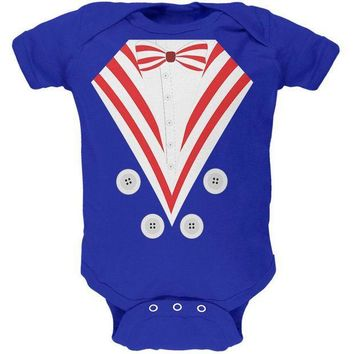 ESBGQ9 Halloween Uncle Sam Costume Soft Baby One Piece