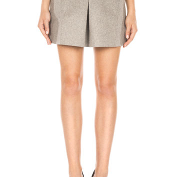 Structured Mini Skirt - Grey