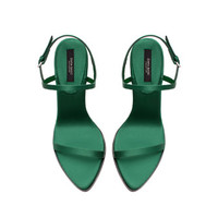 SATIN HIGH HEEL SANDAL - Shoes - WOMAN | ZARA United States