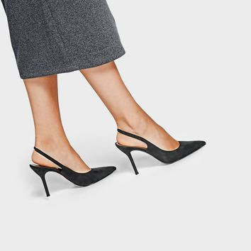 Ccoal Pointed Slingback Heels|CHARLES & KEITH