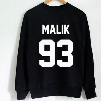 PEAPIH3 Letter sweater fashion long-sleeved shirt men and women with the same paragraph MALIK 93