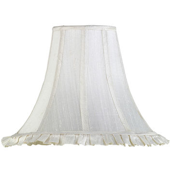 White Ruffled Lamp Shade