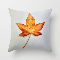 Autumn Star Throw Pillow by RichCaspian