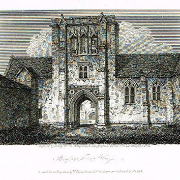 "Miniature Topographical Views - ""BEAUFORT'S TOWER, ST. CROSS"" - Copper Engraving - 1808"