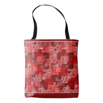 Red Square Minor Monogram Tote Bag